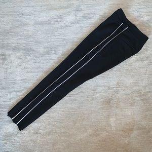 Zara black pants with double side stripes